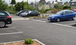Parking relais face à la gare de Saumur réalisé par TPPL  Inauguration du 10 juillet 2014