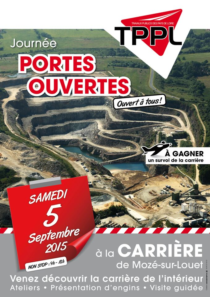 PORTES OUVERTES TPPL CARRIERE DE MOZE SEPTEMBRE 2015